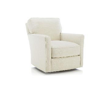 Crate & Barrel Talia Swivel Chair w/ Fabric Protection