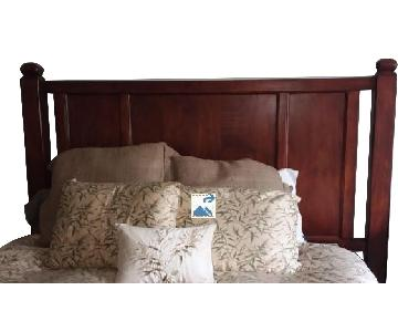 Raymour & Flanigan Mission Style Wood Headboard
