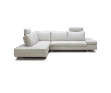 Cantoni Regatta Mist Leather Sectional Sofa