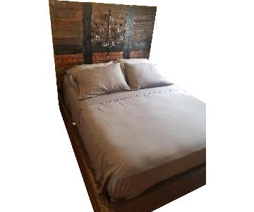 Custom Made Reclaimed Wood Queen Size Bed