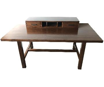 Solid Wood Desk w/ Removable Drawer Topper