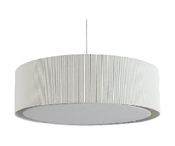 CB2 Equator White Oversized Pendant Light