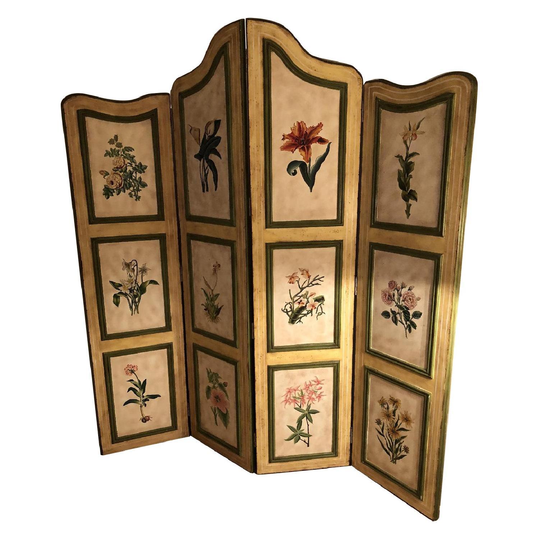 Painted Wood Screen Room Divider AptDeco