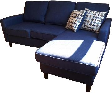 Blue 3-Piece Sectional Sofa