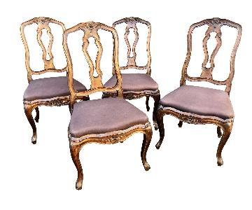 Vintage 19th Century Italian Neoclassical Dining Chairs