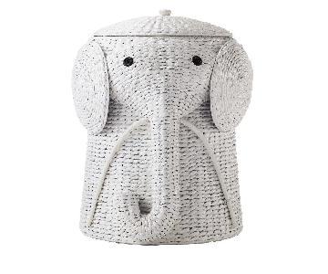 Pottery Barn Kids Medium Wicker Elephant Hamper