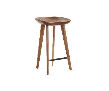 Design Within Reach Walnut Tractor Counter Stools
