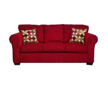 Piedmont Furniture Lydia Deep Red 3 Seater Sofa