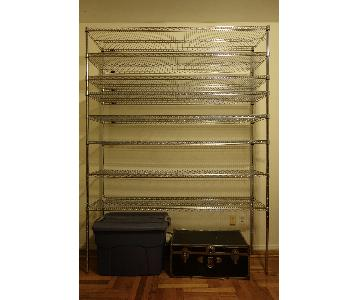 Uline Chrome Wire Shelving Unit