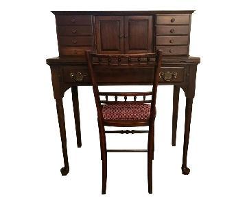Pennsylvania House Cherrywood Ladies Writing Desk & Chair