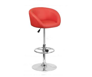Flash Furniture Red Adjustable Bar Stools