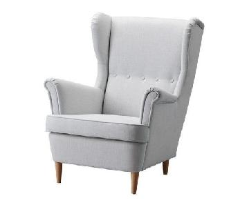 Ikea Light Grey Strandmon Wing Chair