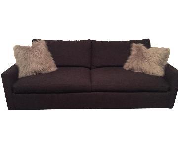 ABC Carpet and Home Dark Grey Sleeper Sofa