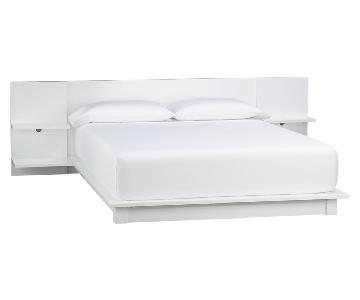 CB2 Andes White Full Bed Frame