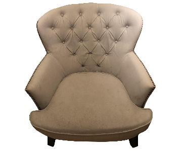 Tufted Fabric Club Chair