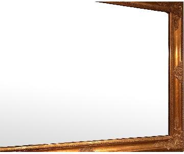 Freidman Brothers Gold Framed Beveled Rectangular Mirror
