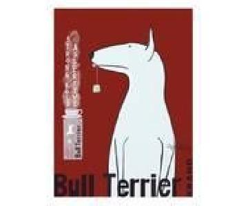 Ken Bailey Vintage Bull Terrier Print