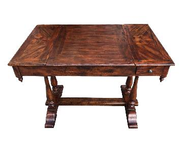 Theodore Alexander Antiqued Wood Castle Bromwich Game Table
