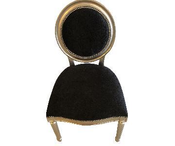 Black Nailhead Dining Chairs