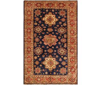 Arshs Fine Rugs Kazak Garish Jonie Blue/Red Wool Rug
