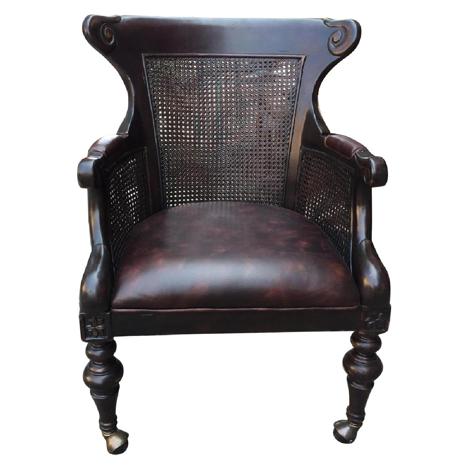 Lexington Double Caned Regency Bergere Chair ...