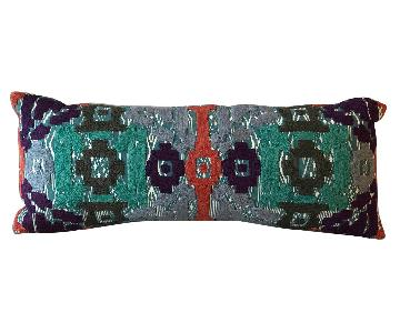 Anthropologie Embroidered Double-Sided Lumbar Pillow