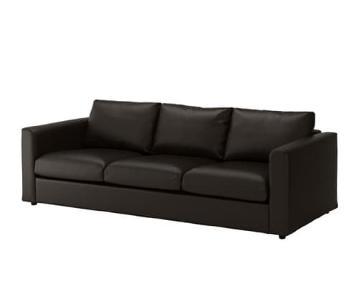 Ikea Vimle Black 3-Seater Sofa