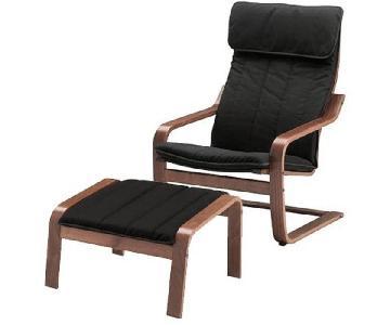 Ikea Poang Chair & Ottoman