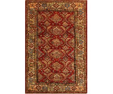 Arshs Fine Rugs Kazak Garish Garth Red/Ivory Wool Rug