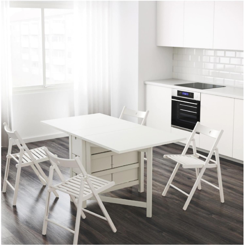 Ikea Norden Gateleg Table In White Aptdeco