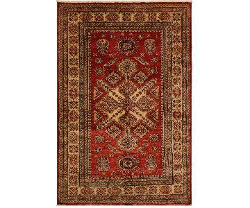 Arshs Fine Rugs Kazak Garish Vanesa Red/Ivory Wool Rug