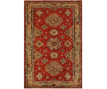 Arshs Fine Rugs Kazak Garish Belva Red/Ivory Wool Rug