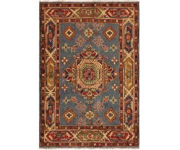 Arshs Fine Rugs Kazak Garish Thurman Blue/Ivory Wool Rug