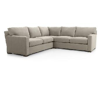 Crate & Barrel Axis II 3 Piece Sectional Sofa