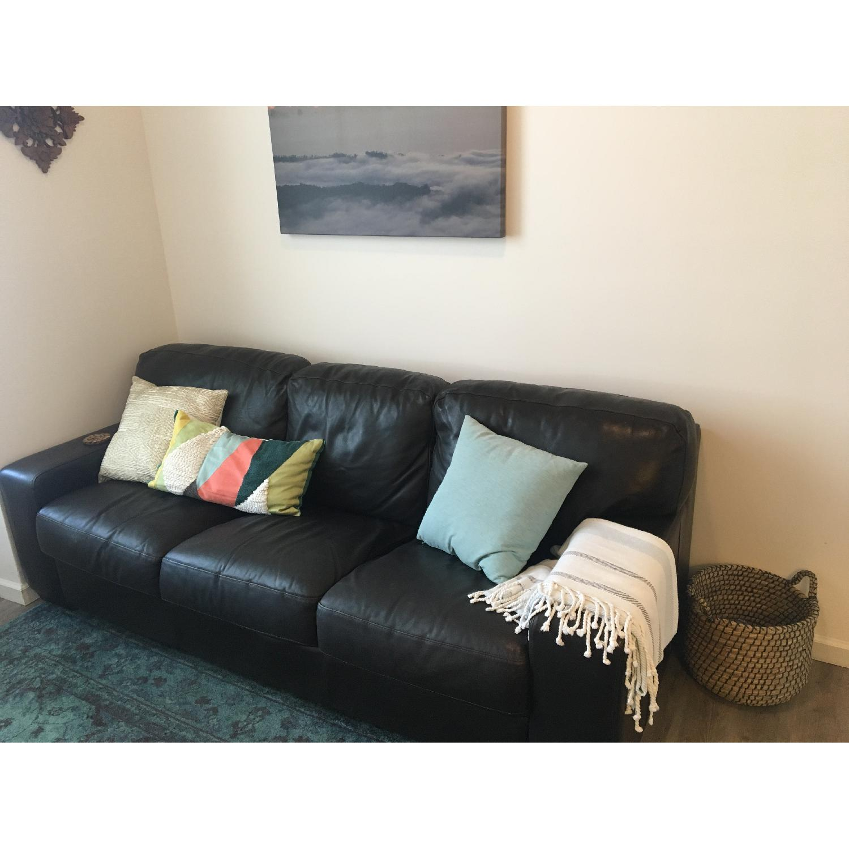 ... Jennifer Convertibles Brown Leather Sofa 1 ...