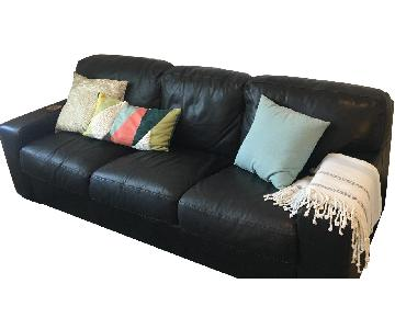 Jennifer Convertibles Brown Leather Sofa