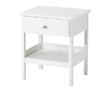 Ikea Tyssedal Nightstand in Snow White