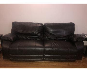 Bob's Faux Leather Power Reclining Sofa