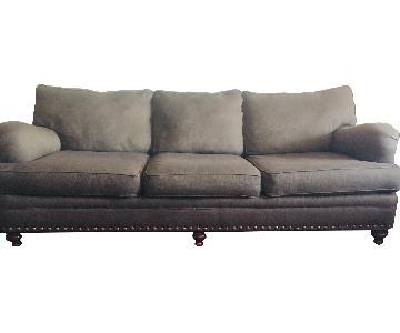 Jennifer Convertibles Taupe Sofa