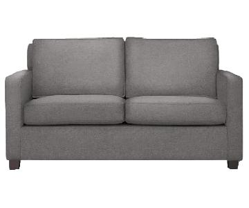West Elm Henry Sofa in Marled Microfiber Heather Gray