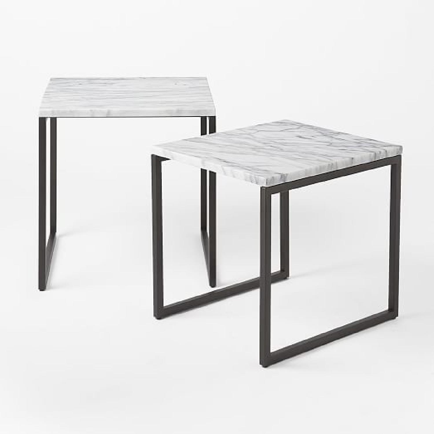 ... West Elm Box Frame Marble Nesting Tables 5 ...