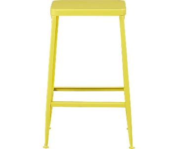 CB2 Flint Bar Stool in Yellow