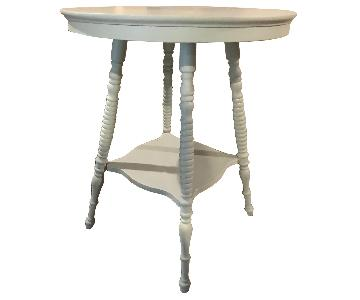 Pastel Wooden Round Table