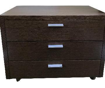 Design Within Reach Wood Dresser w/ Silver Pulls