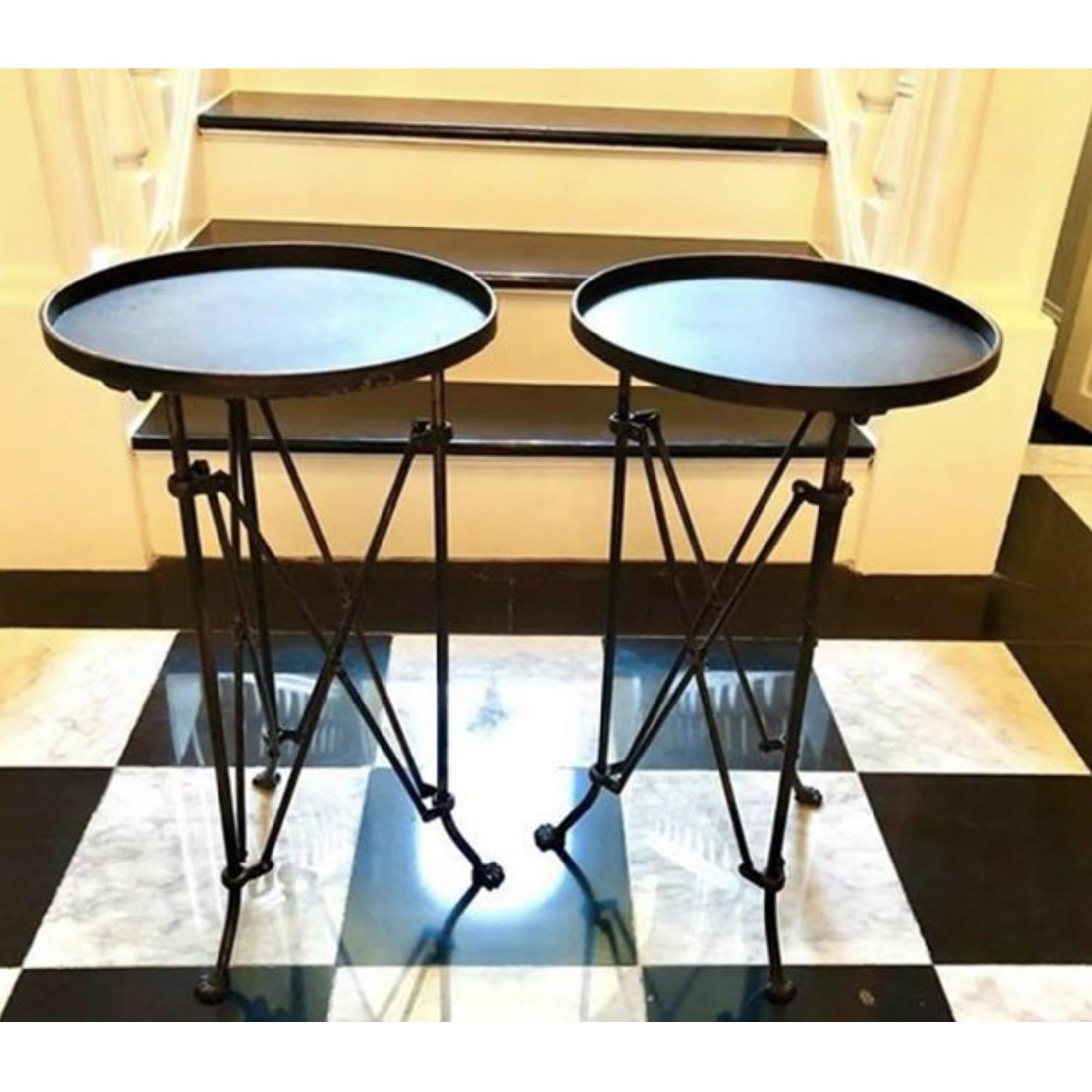 Gueridon Style Metal Side Tables