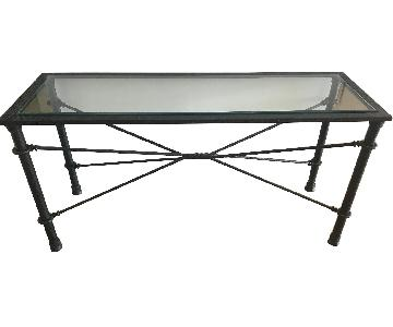 Handcrafted Iron Console Table