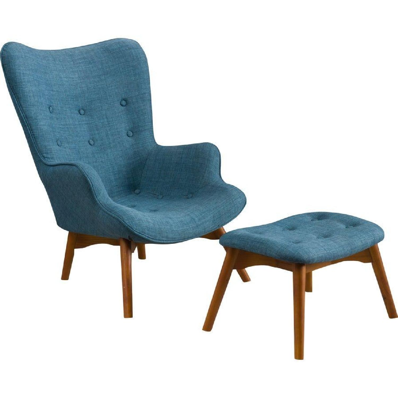 Langley Street Wingback Chair & Ottoman