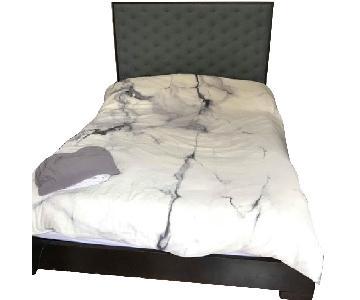 West Elm Chunky Wood Bed Frame w/ Headboard