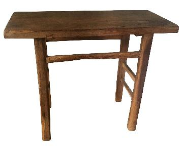 ABC Carpet and Home Antique Pine Wood Table