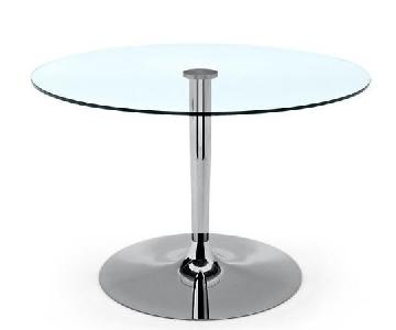 Calligaris Planet Round Glass Table